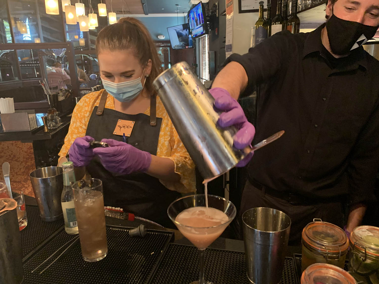 Bartenders Mixing Cocktails